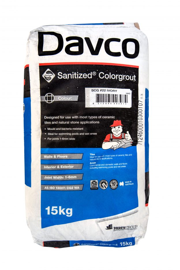 davco sanitised colorgrout 15kg